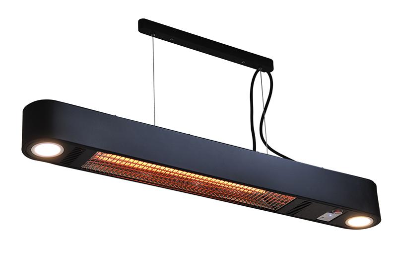 terrasverwarmer elegance led zwart