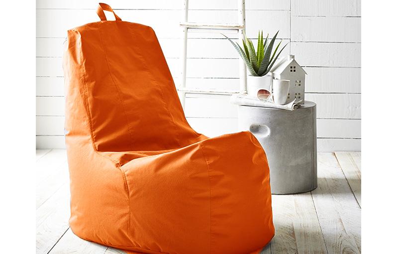 zitzak sofa mandarine